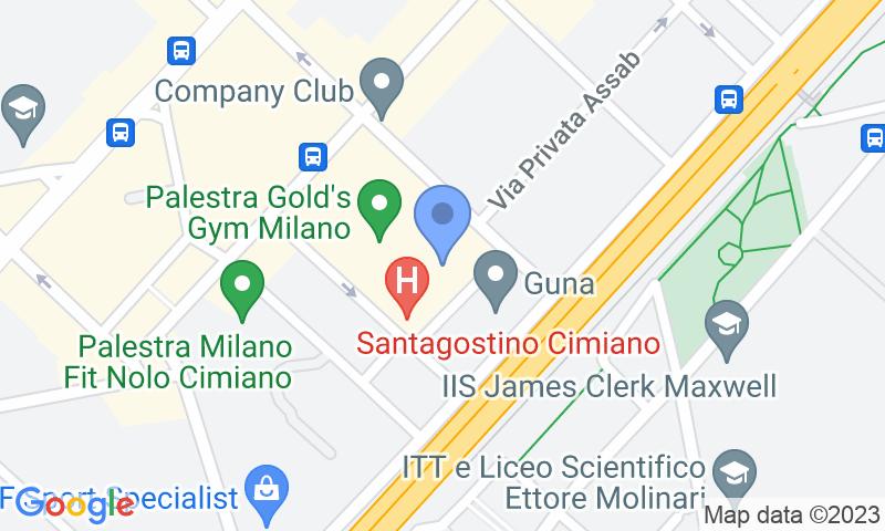 Localizzazione del parcheggio sulla mappa - Prenota un posto nel parcheggio Quick Palmanova Milano
