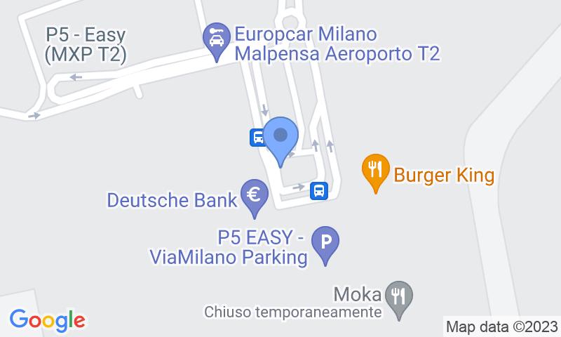 Localización del parking en el mapa - Reservar una plaza en el parking The Easy Parking Malpensa - VIP Valet - T2 Coperto