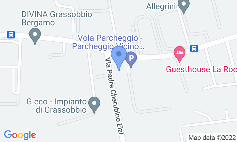 Parking location in the map - Book a parking spot in Azzurro park -shuttle scoperto- car park