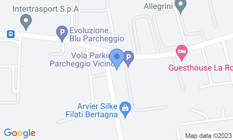 Localizzazione del parcheggio sulla mappa - Prenota un posto nel parcheggio Azzurro park -shuttle scoperto-