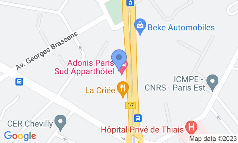 Расположение парковки на карте - Забронируйте паркоместо на стоянке Paris Sud -  Adonis Hotel