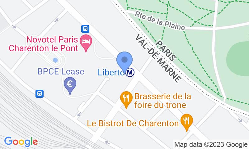 Localització del parking al mapa - Reservar una plaça al parking Valmy Liberté