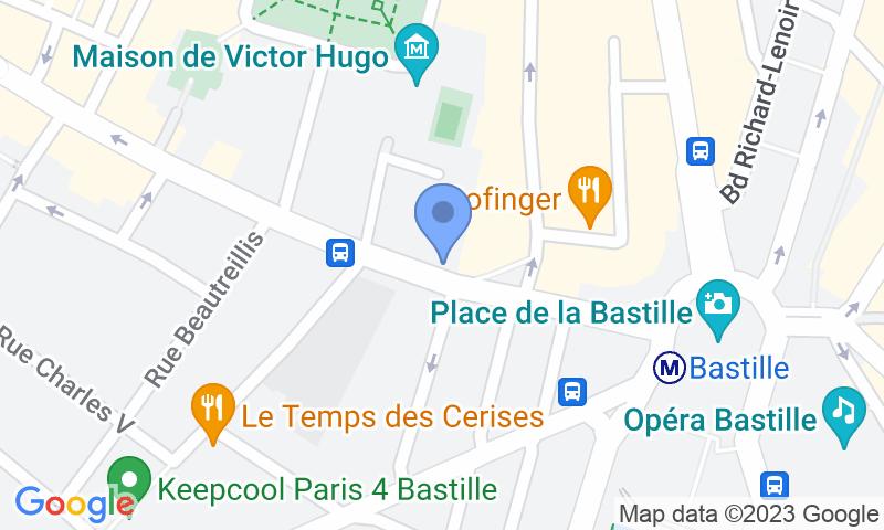 Расположение парковки на карте - Забронируйте паркоместо на стоянке Parc Saint-Antoine Bastille