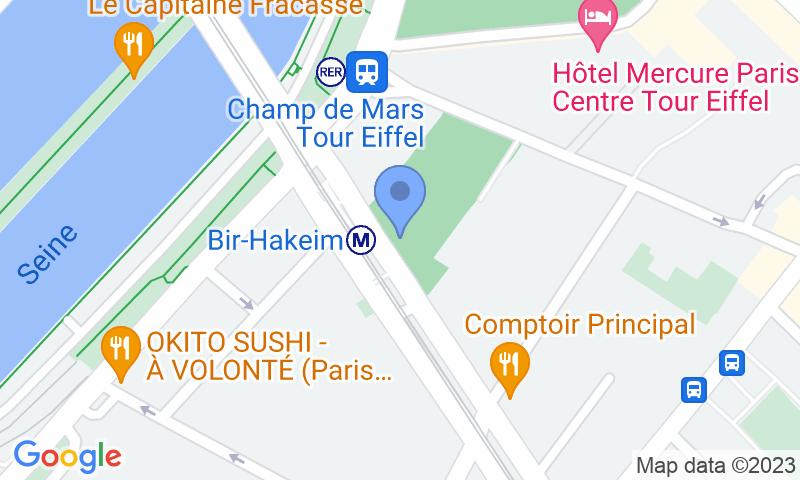 Localització del parking al mapa - Reservar una plaça al parking Castorama Tour Eiffel