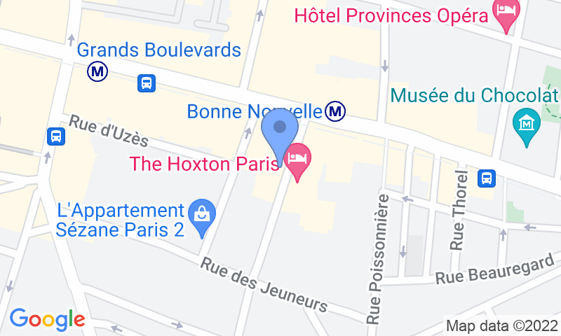 Parking location in the map - Book a parking spot in 41 Rue du Sentier car park
